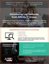 Affinity Log Defender Flyer